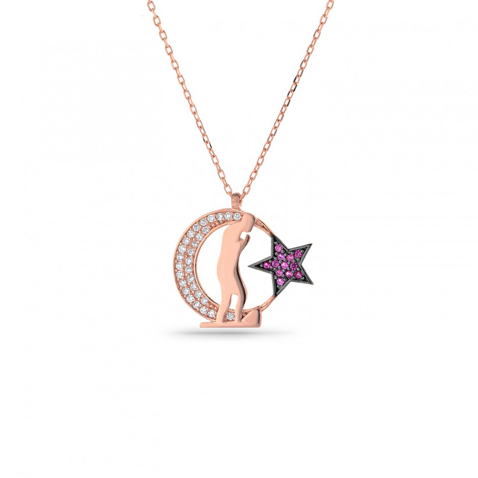 Atatürk Themed Moon Star Necklace
