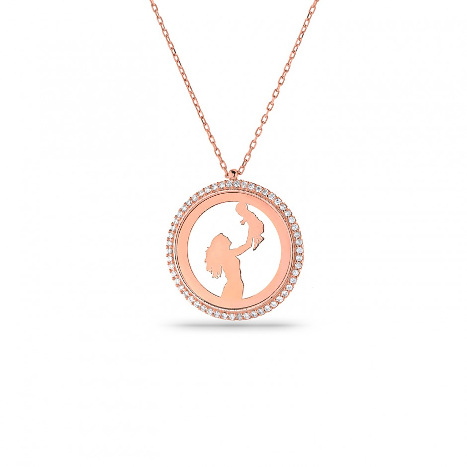 Mom Baby Themed Necklace