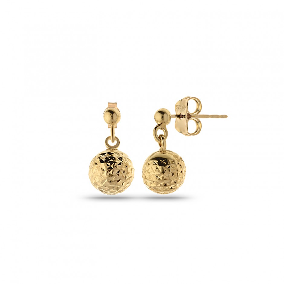 Micron Gold Plated Wobe ball earrings