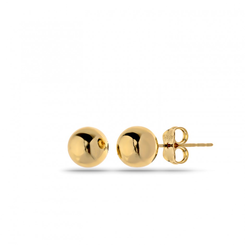 Micron Gold Plated Top Earrings