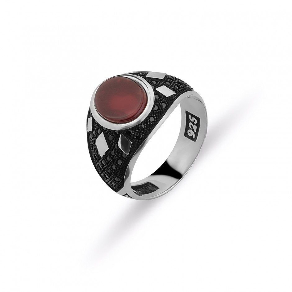 Akik Stone Men's Ring