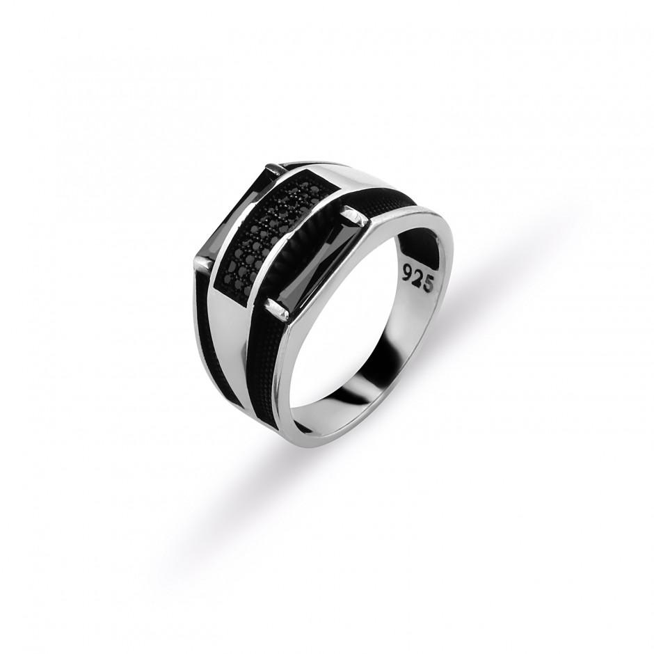 Oniks Taşlı Erkek Yüzüğü