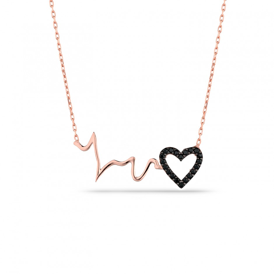 Heart Rhythm Silver Necklace