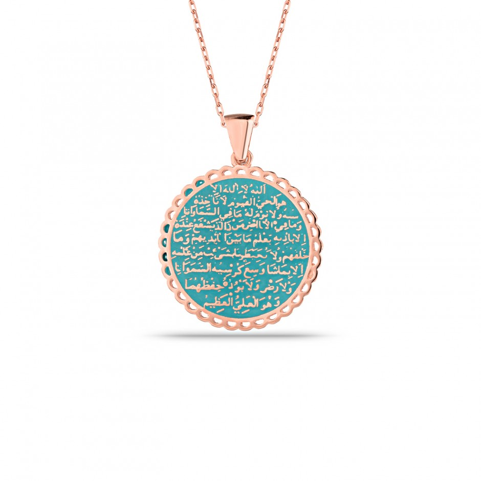 Enamel Silver Necklace With Ayetel Curva