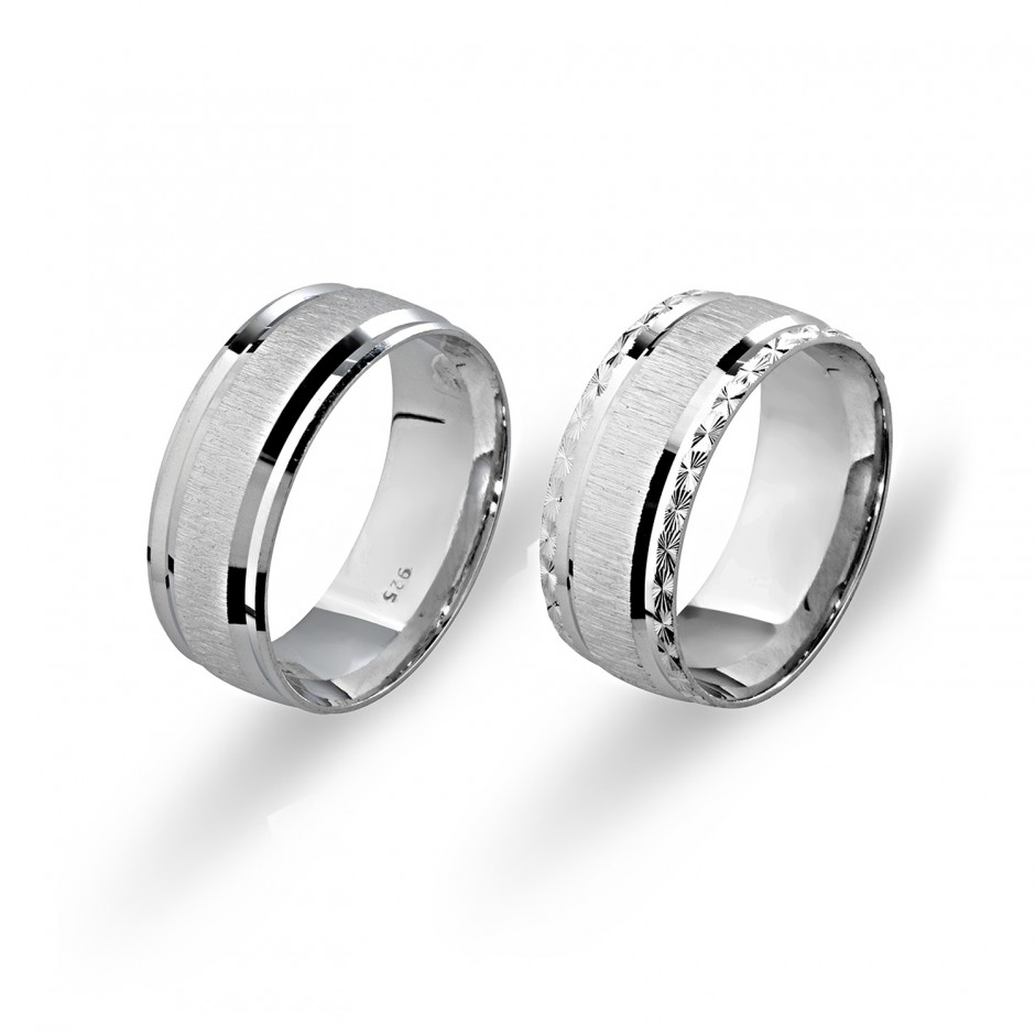 Straight Silver Wedding Ring