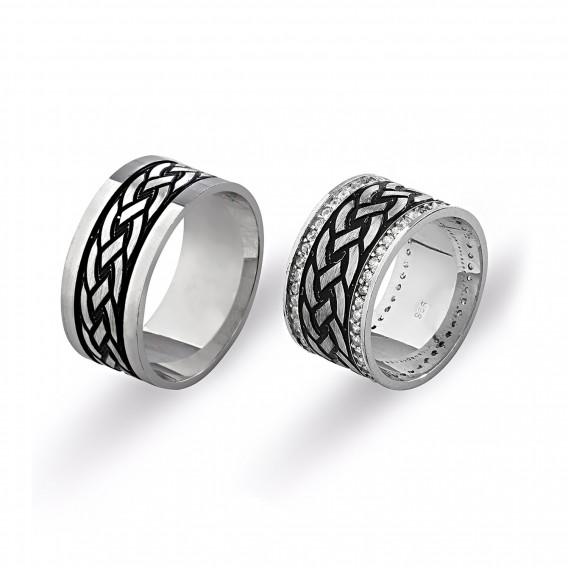 İşlemeli Gümüş Alyans
