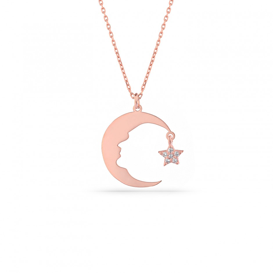 Atatürk Silhouetted Moon Star Necklace