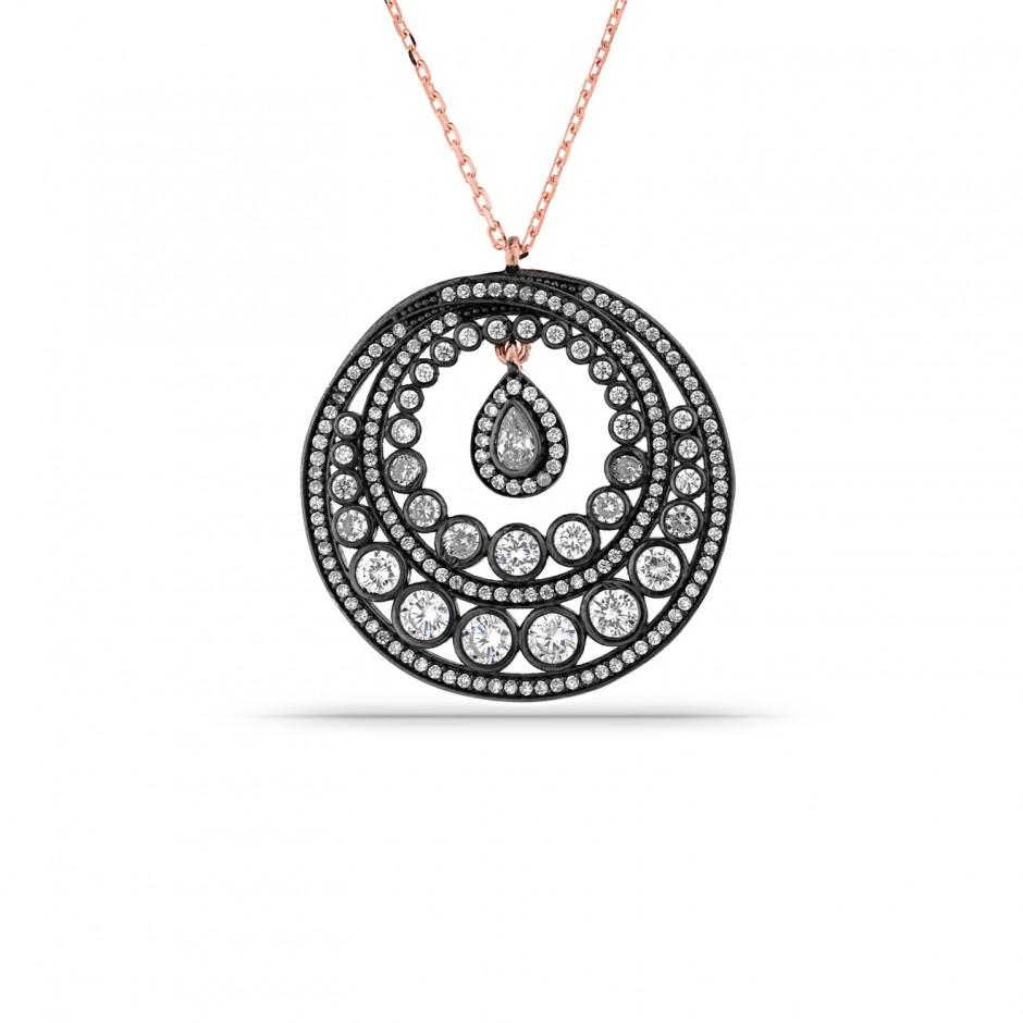 Elmas Montür Tasarım Gümüş Kolye