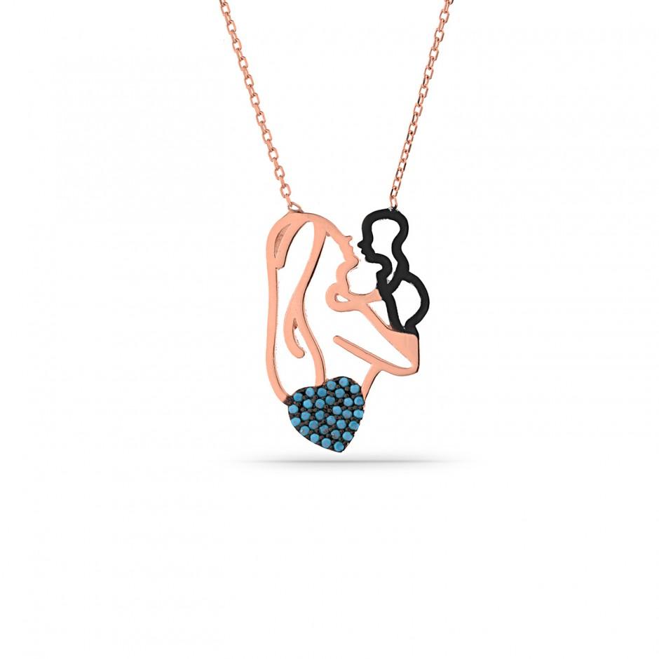 Firuze Stone Mom Baby Necklace