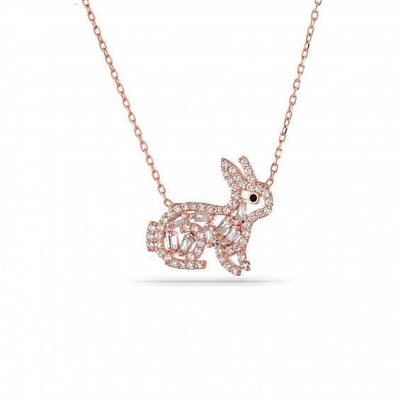 Baget Taşlı tavşan Kolye