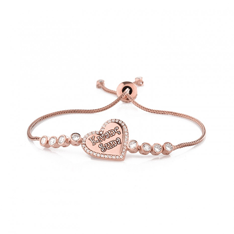 Named Heart Silver Bracelet