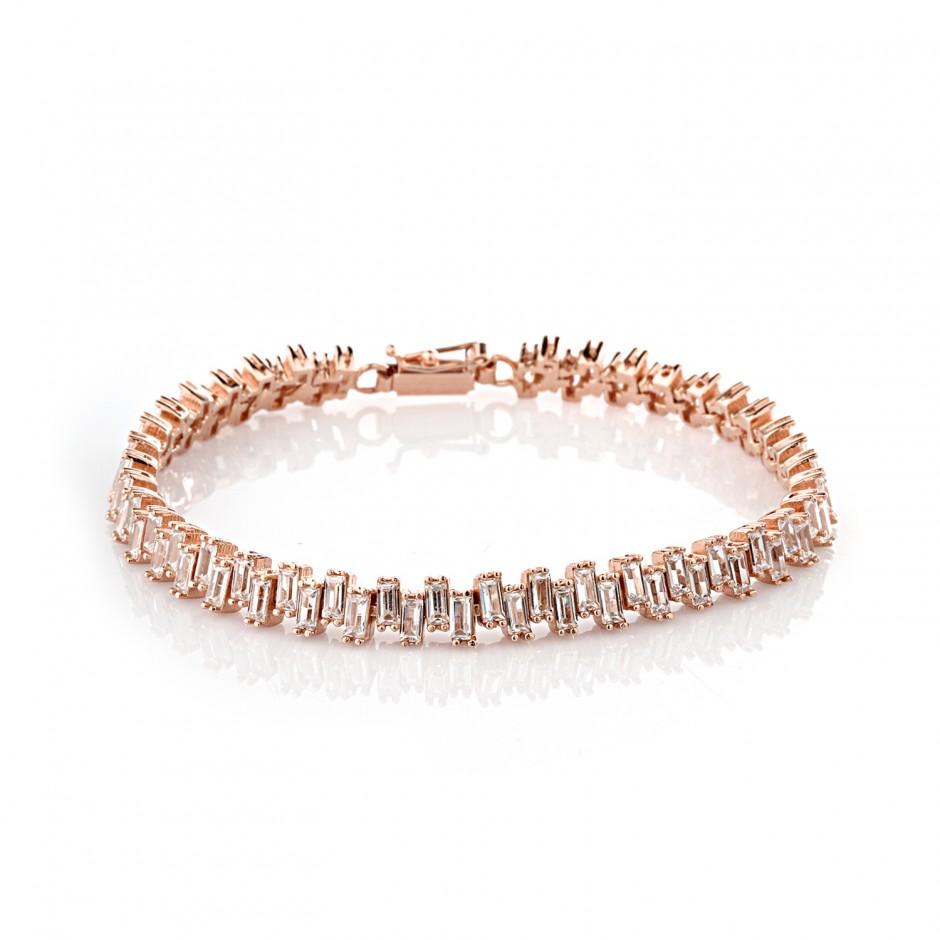 Waterway Asymmetril Baguette Silver Bracelet