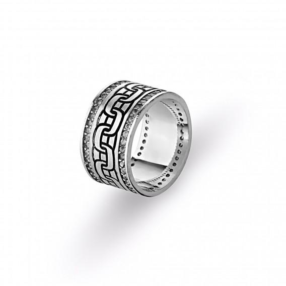 Zincir Modeli Gümüş Alyans