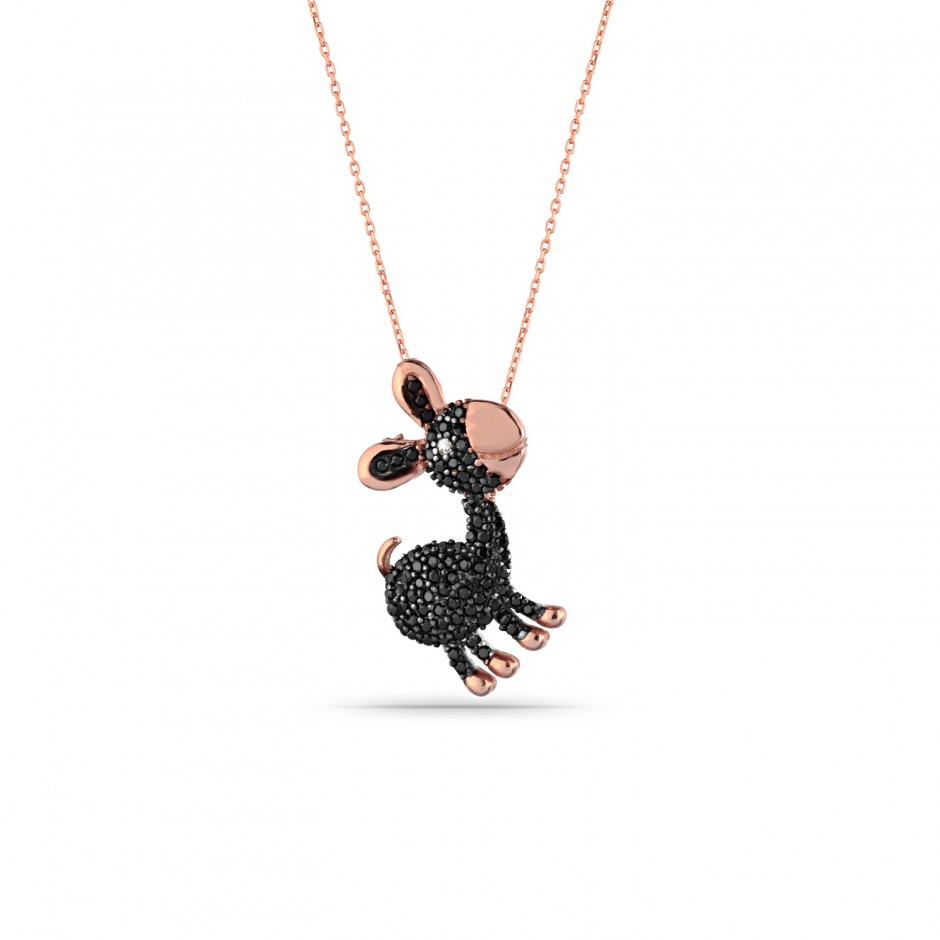 Black Donkey Silver Necklace