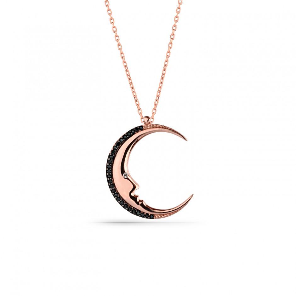 Moon Dede Silver Necklace
