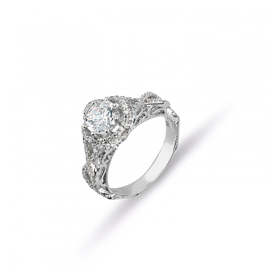 Swarovski Stone Legend Silver Ring