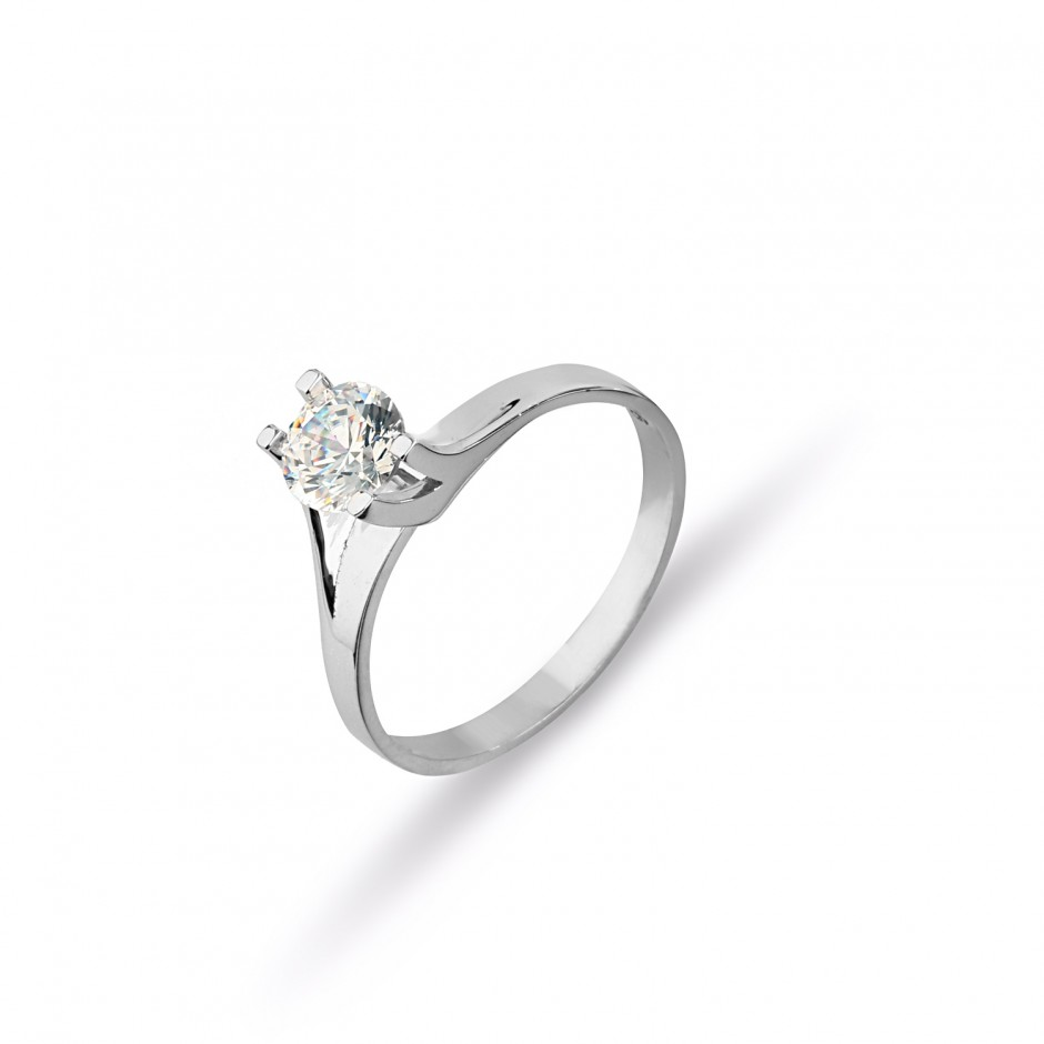 Original Swarovski Stone Side Nail Silver Tasstone Ring