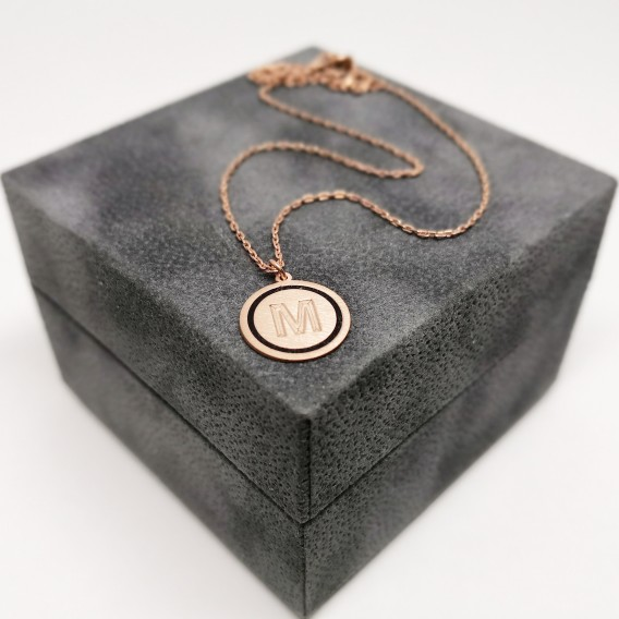 Mini Harfli Gümüş Kolye