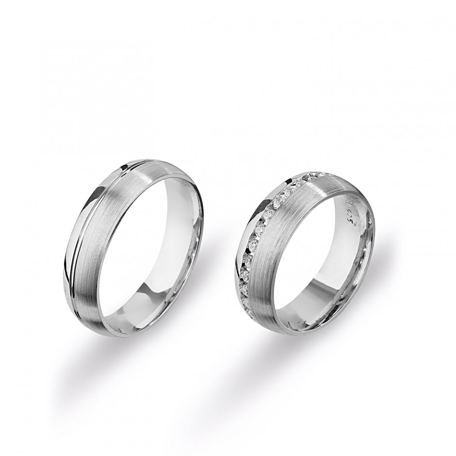 Waterway Silver Wedding Ring
