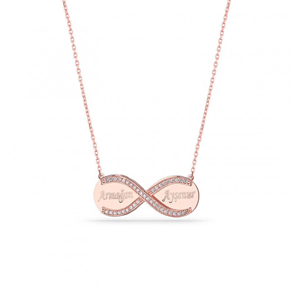 Named Plate Infinity Necklace