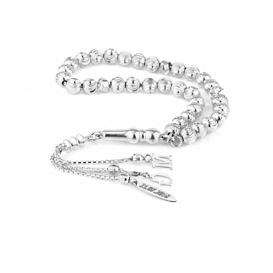 Harfli Tarihli Gümüş Tesbih