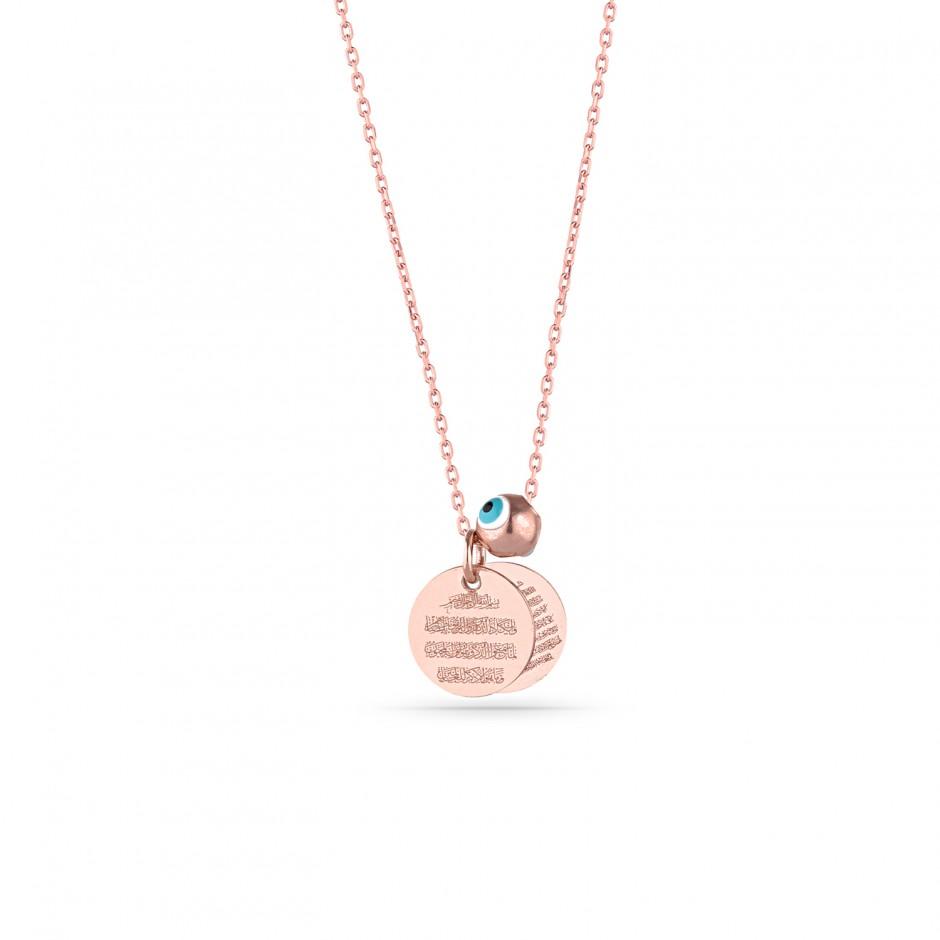 Double Prayer Silver Necklace