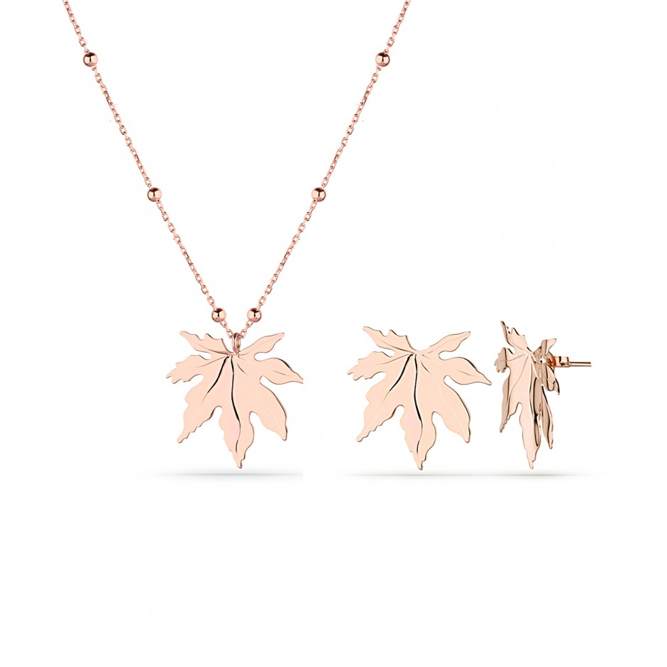Sycamore Leaf Silver Set