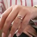 Minimal Aşk Sarmalı Gümüş Yüzük