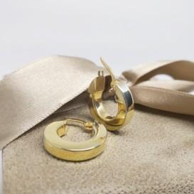 Mikron Altın Kaplama Halka Küpe