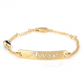 Silver Children's Bracelet with Micron Gold Plating