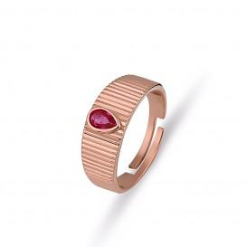 Damla Fuchsya Stone Ring