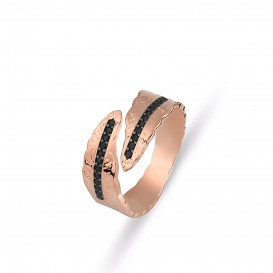 Onix Stone Feather Ring