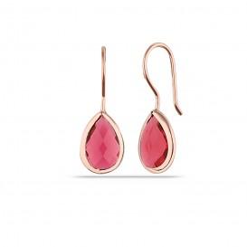 Drop Zircon Stone Silver Earrings