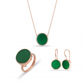Green Ax rock silver set