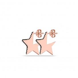 Onix Taşlı Yıldız Küpe