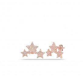 Zircon Stone Filtering Star Earrings