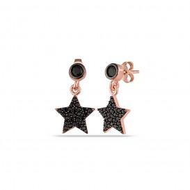 Onix Stone Woeding Star Earrings