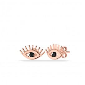 Minimal Onix Taşlı Göz Küpe