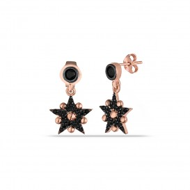 Onix Stone Woeding Star Earrings