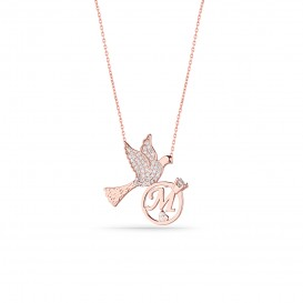 Lettered Bird Necklace