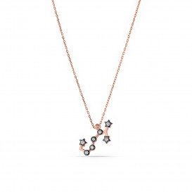 Horoscope Star Map Silver Necklace