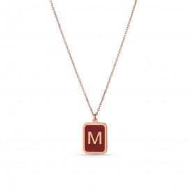 Enamel Letter Necklace