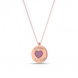 Named Heart Plate Necklace